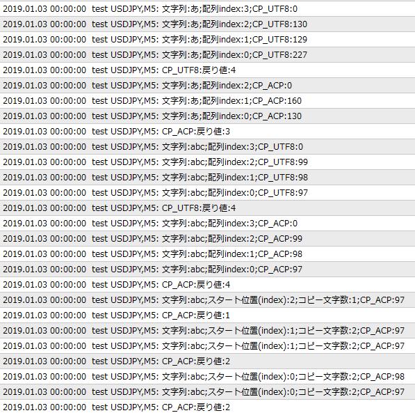 サンプルコード実行結果